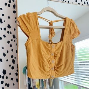 Tops - Marigold Yellow button Up Top S